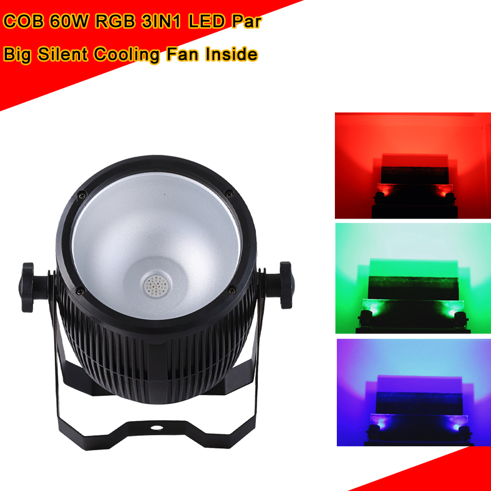 4XLot COB LED Par Light 60W 3IN1 RGB Par LED Can Beam Wash DJ Disco DMX512 Stage Lighting Effect Home Party Shows Equipments