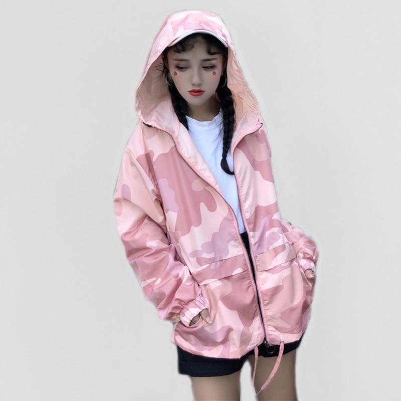 Long Sleeve   Basic     Jackets   Bomber Women's   Jacket   Casual Female   Jackets   Outwear Hooded Windbreaker   Jacket   Women Summer Coats
