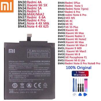 xiao mi Original Battery Xiaomi Redmi 4A 5 5A 5 plus 6 6A 4pro 6Pro Note 4 4X 5 6 Pro 7 Pro Mi 4C Mi5 M5 5S Mi6X Plus Bateria