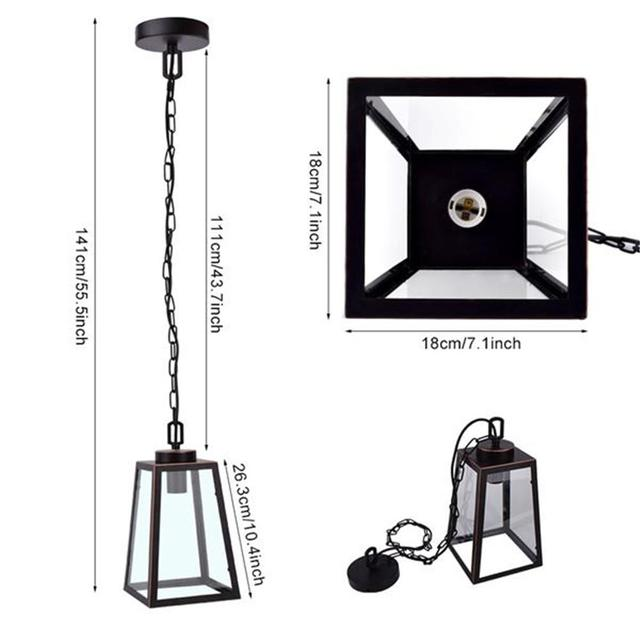 Modern Iron Art Pendant Light Hanging Cage Vintage Led Lamp Industrial Loft Retro Light Dining Room Restaurant Bar Decoration 4