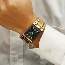 Men Watches Top Brand Luxury WWOOR Gold Black Square Quartz watch men 2020 Waterproof Golden Male Wristwatch Men watches 2019