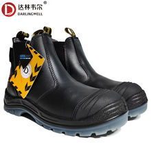 DARLINGWELL Cowhide Safety Shoe Boots Steel Toecap Construction Factory Oil Rescue Work Boots High Quality Outdoor Footwear