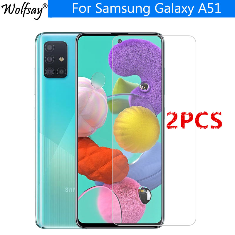 2PCS For Tempered Glass Samsung Galaxy A51 Screen Protector Toughened Protective Glass For Samsung Galaxy A51 Glass Galaxy A51