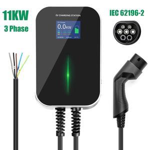 Image 2 - EV Ladegerät 16A 3 Phase Elektrische Fahrzeug Ladestation EVSE Wallbox mit Typ 2 Kabel IEC 62196 2 für audi für Mercedes Benz
