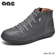 Мужские кожаные ботинки до щиколотки, коричневые ботильоны из искусственной кожи, повседневная обувь для пустыни, 2020