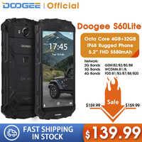 DOOGEE S60 Lite смартфон с 5,2-дюймовым дисплеем, восьмиядерным процессором MT6750T, ОЗУ 4 Гб, ПЗУ 32 ГБ, 5580 мАч