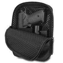 Tático escondido arma bolsa de couro arma saco da cintura com cinto loops arma acessórios tático carry holsters