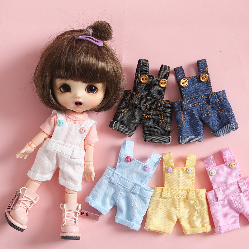Ob11 Doll Clothes Ob11 Clothes Candy Colored Belt Pants 1/12 Bjd GSC Body Overall Trousers Doll Accessories Toys