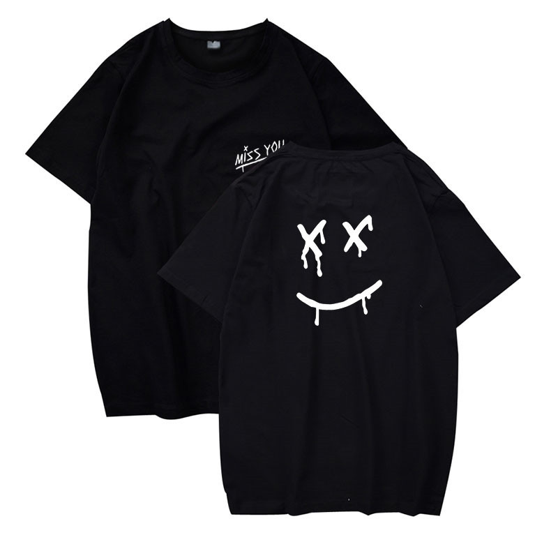Louis Tomlinson Miss You Smiley Face Printed Men Women T Shirt Cotton Hip Hop Funny T-shirt Hipster Streetwear Top Tee Tshirt