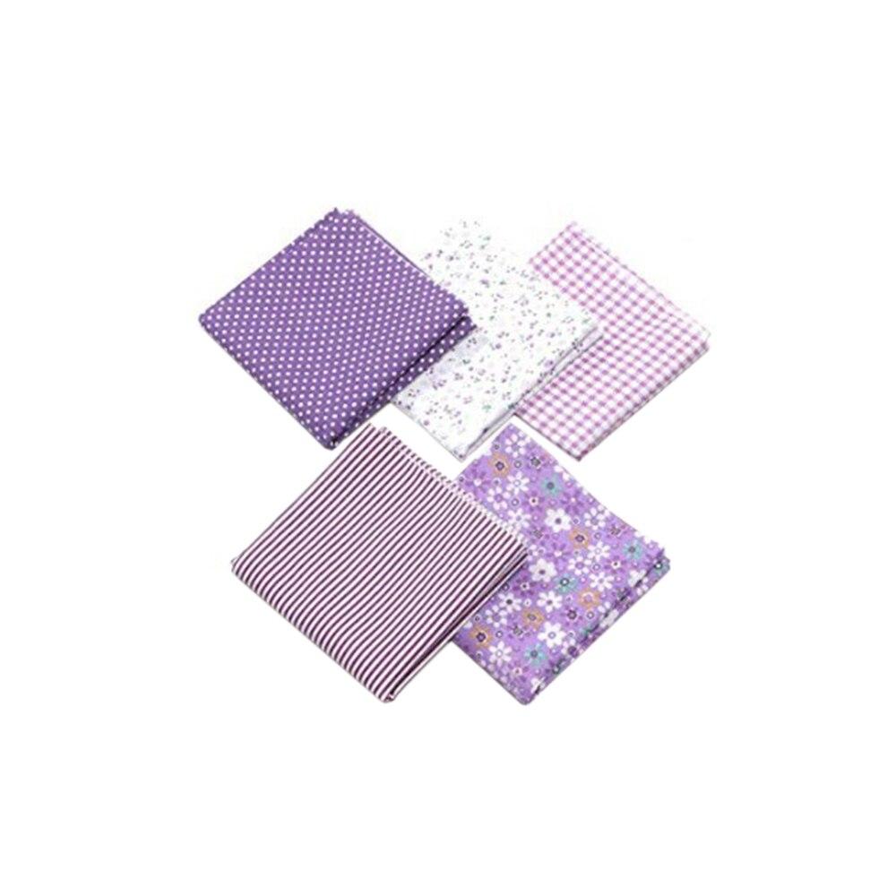 Handmade 5pcs DIY Cotton Fabrics Patchwork Group Plain Cloth Various Patterns Floral Square Cotton Cloth 50*50cm