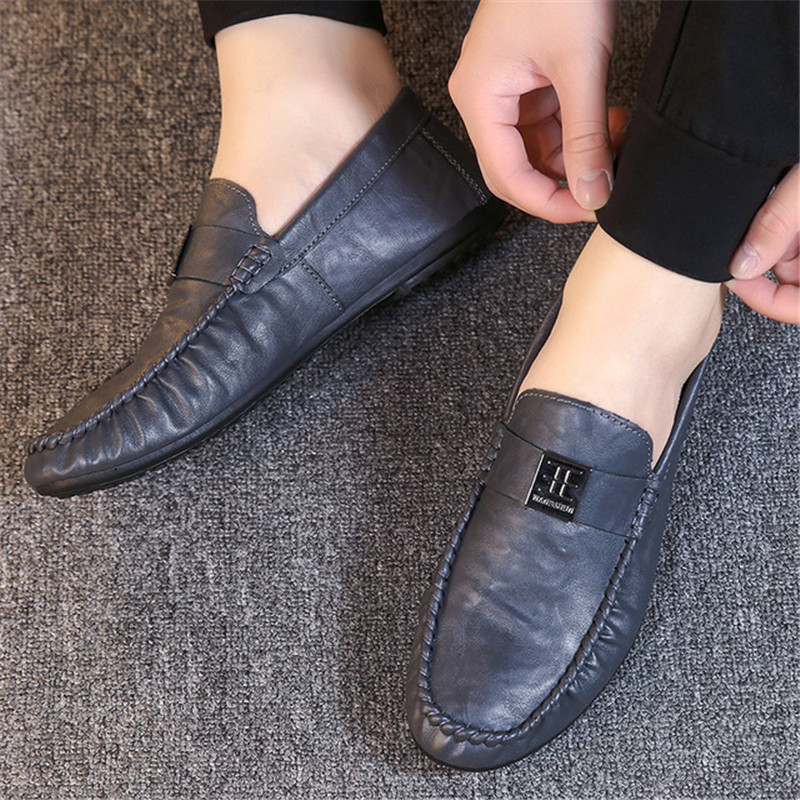 Men Shoes Leather Loafers Casual Shoes Men Flats Moccasins Soft Slip On For Men Loafers Driving Shoes Moccasins Italian Shoes