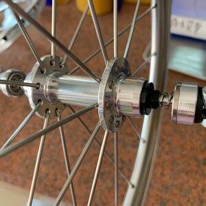 """Image 4 - Silverock liga rodado 20 """"406 451rim pinça de freio alto perfil 74 100 130 11s para triciclo bicicleta dobrável rodas minivelo"""
