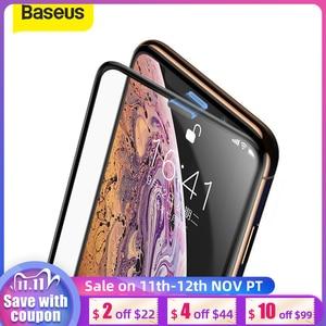Image 1 - Baseus 3d protetor de tela para iphone xr 0.3mm ultra fino vidro protetor para iphone xs x xs max 7 8 vidro temperado filme frontal