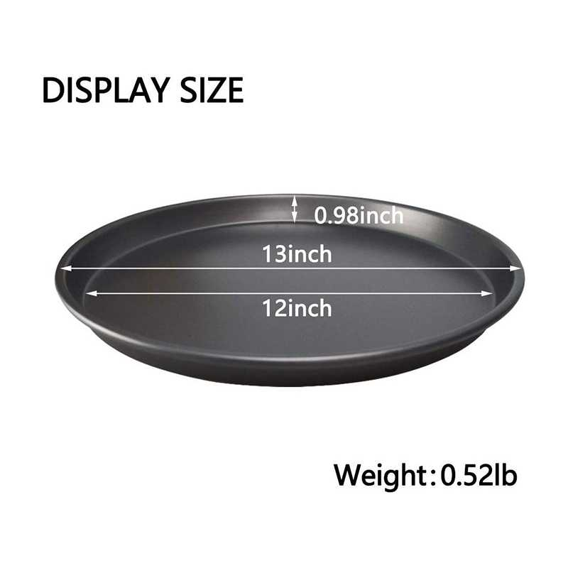 10 Inch 2Pcs Pizza Pan Deep Dish Hard Coating Microwave Crispers Commercial Grade Kitchen Baking Tray Round Cake Baking Pans
