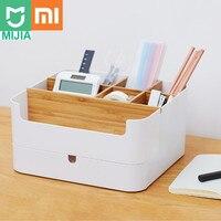 Xiaomi Mijia desk Bamboo Fibre Detachable Organiser Box Sub grid Design Cosmetic Storage Box Portable Case for Bathroom
