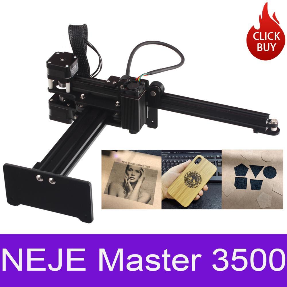 NEJE Master 3500mw wysokiej prędkości mini laser CNC grawer grawerowanie maszyny do metalu/drewna Router/gilotyna do papieru/pulpit do cięcia