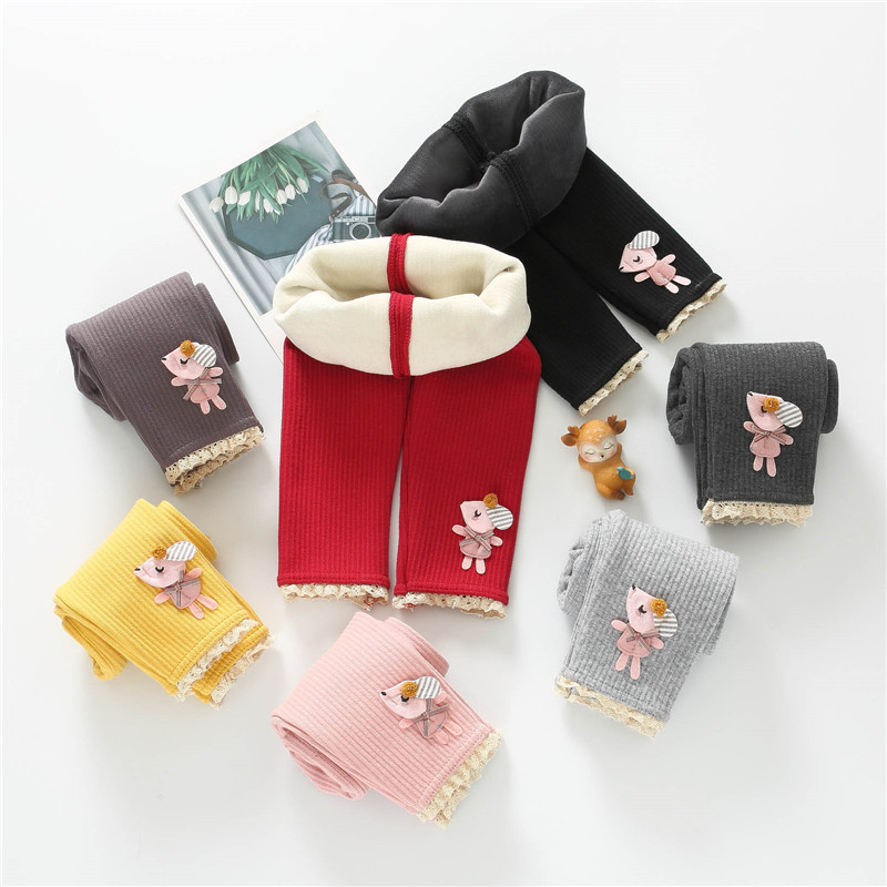 Newborn Baby Pants Baby Girl Pants Winter Plus Velvet Thicken Baby Boy Pants Kids Warmer Leggings Clothes Knitted Trousers