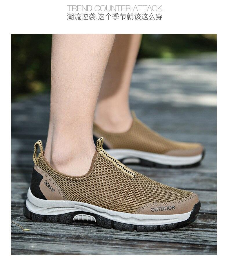 2021men's vulcanize sapato tênis de verão malha