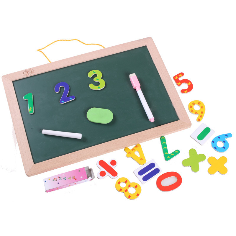 Building Blocks Double-Sided Magnetic Children Early Childhood Educational Teaching Aids Sketchpad Blackboard Wall-Mounted Writi