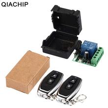 QIACHIP 433 Mhz uniwersalny bezprzewodowy pilot przełącznik DC 12V 1CH moduł przekaźnika odbiorczego nadajnik rf 433 Mhz zdalne sterowanie tanie tanio Zautomatyzowane zasłony Oświetlenie Elektryczne Drzwi KT05-4 KR1201-4 NO NC COM 97dbm -30 ~ +80 Intelligent Learning code