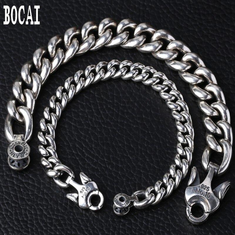 S925 argent sterling nouveau bijoux de mode fleur de cerisier Thai bracelet en argent pour hommes épais bracelet en argent brillant bracelet pour hommes