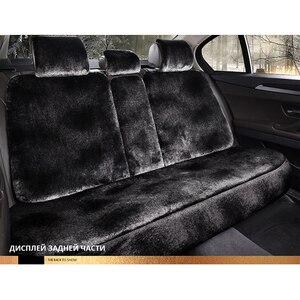 Image 4 - 車のシートクッションのオーストラリア羊毛クッション新豪華な車のマット冬のシートクッション毛皮のシートカバー