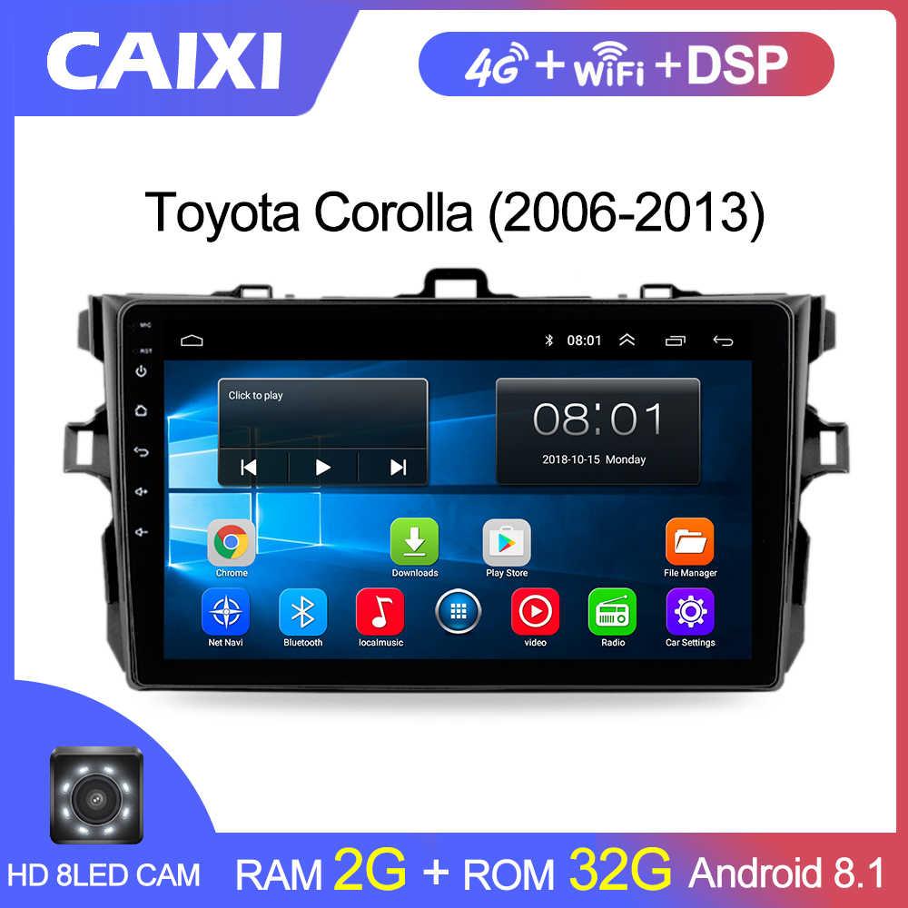 9 pulgadas 2din Android8.1 Radio de coche reproductor Multimedia para Toyota Corolla E140/150/2008, 2009, 2010, 2011, 2012, 2013 estéreo navegación