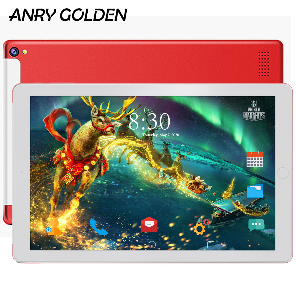 Original 16GB Tablets 4 Core Phablet 10 Inch IPS Screen Wifi GPS Bluetooth 3G Phone Call 10.1 Tablet Pc 5000mAh Battery