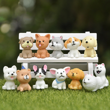 Figurine-Toy Doll-House Cartoon Decor Mini BAIUFOR Micro-Landscape Puppy Teddy-Model-Anime