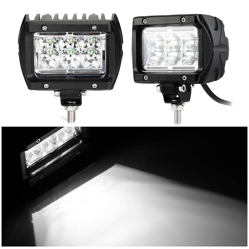 Isincer Light-Bar Work-Lamp Ambient-Light Led-Spot Jeep Amber Truck Boat with 18W  title=