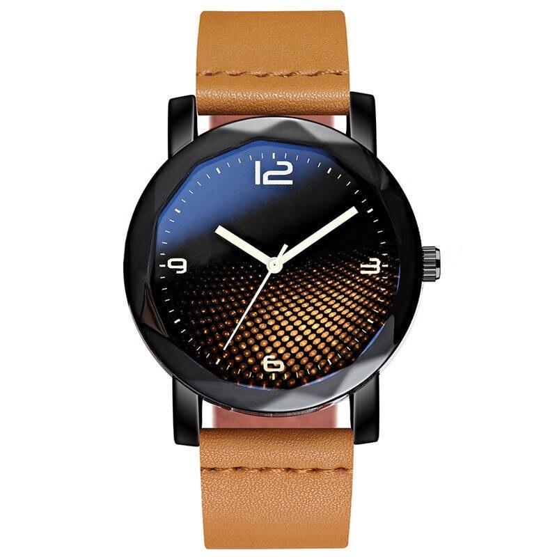 Часы наручные мужские кварцевые со звездным небом модные повседневные