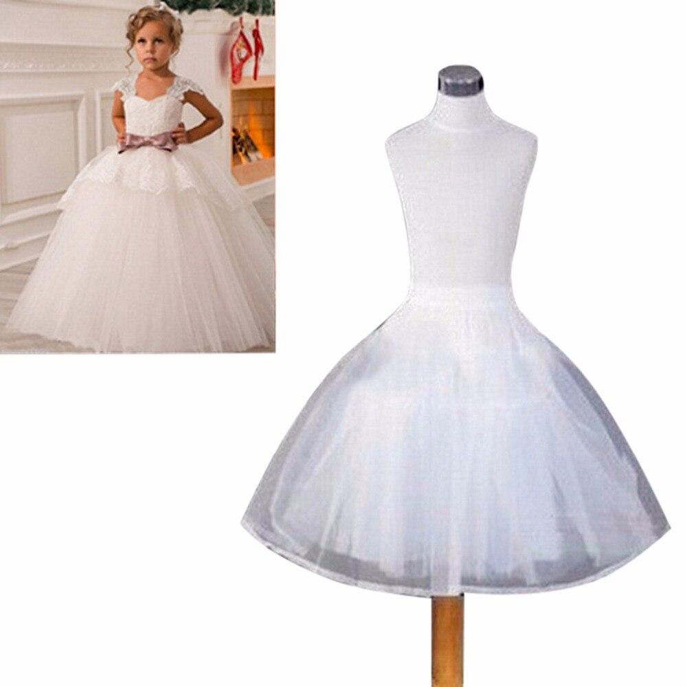 Fast Shipping Wedding Accessories Kids Flower Girls Dress Petticoat Vestido Longo Ball Gown Crinoline Skirt Petticoats In Stock