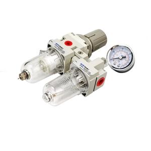Image 4 - AC2010 02 ידני ניקוז אספקת אוויר משאבת מדחס מסנן לחות פנאומטי וסת לחץ שמן מים מפריד שני חלקים