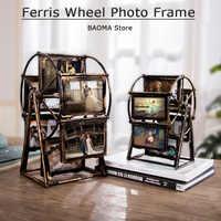 Ferris Wheel Photo Frame 4 Inch 5 Inch Photo Frame Set Home Decoration Living Room Bedroom Family Wedding Photo Desktop Display