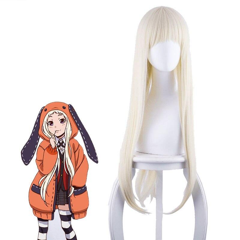 Yomoduki Runa Cosplay Costume Kakegurui Compulsive Gambler Runa Cosplay Wig and Orange Hooded Jacket JK Uniforms0 (8)