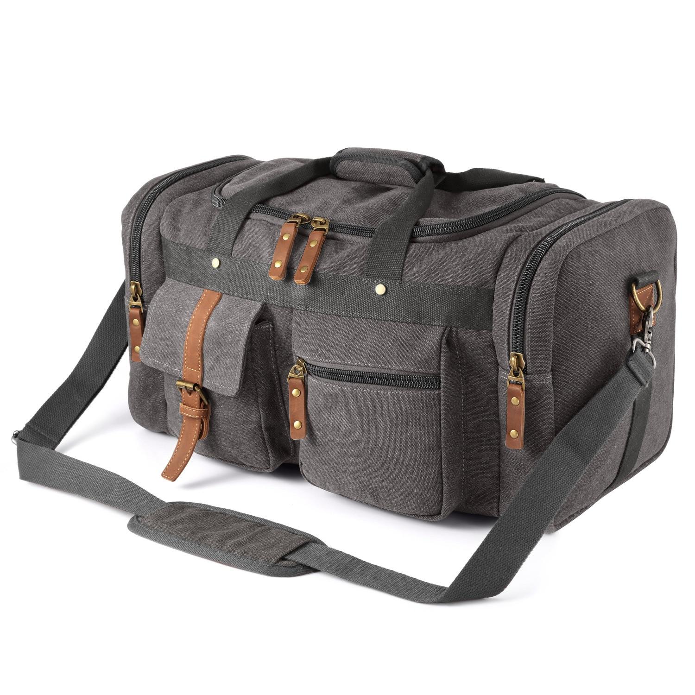 Дорожная сумка Большая вместительная Холщовая Сумка ручная дорожная сумка ретро Многоцелевая сумка на плечо источник багажа от