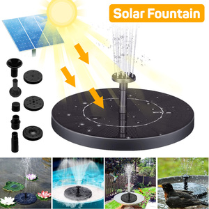 Mini Solar Fountain Pump Solar Powered Water Fountain Garden Fountain Floating Water Solar Waterfall Pool Pond Garden Decoration(China)