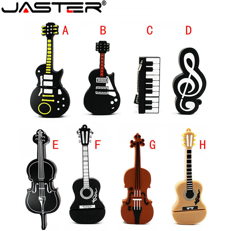 JASTER Music Note Pen Drive  Musical Instrument Usb Flash Drive Pendrive 4GB 8GB 16GB 32GB Cartoon Memory Stick U Disk Gift