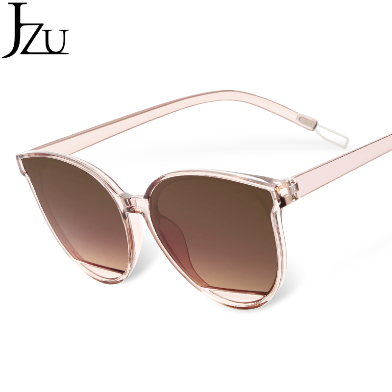 JZU Luxury Fashion Sunglasses Women New Brand Design 2019 Vintage Big Black Frame Mirror Sunglasses Oculos De Sol Feminino UV400