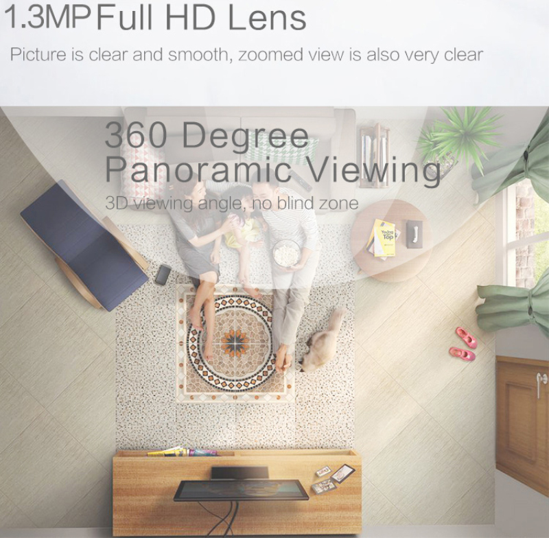 360° Panoramic Camera Home Security Bulb Camera