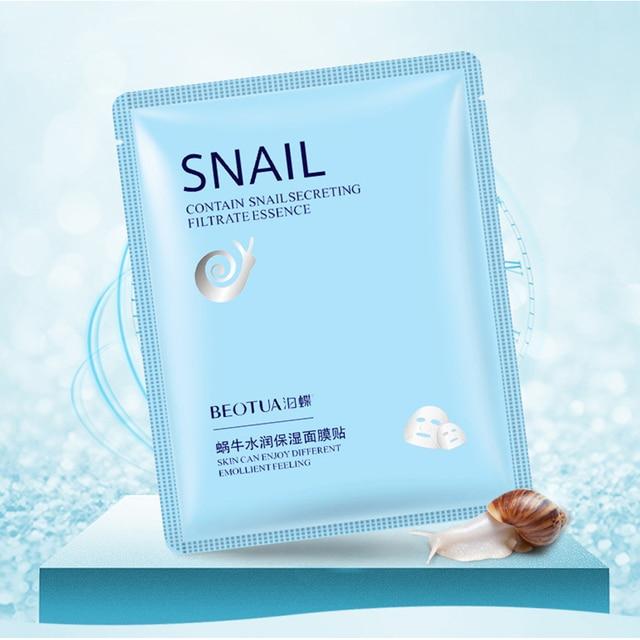 New Snail Essence Facial Mask Oil Control Anti-Aging Shrink Pores Sheet Mask Skin Care Face Mask Hydrating Moisturizing Mask 3