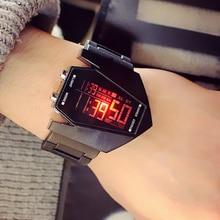 Часы светодиодные силиконовые для мужчин и женщин, модные трендовые Роскошные спортивные многофункциональные цифровые часы с будильником ...