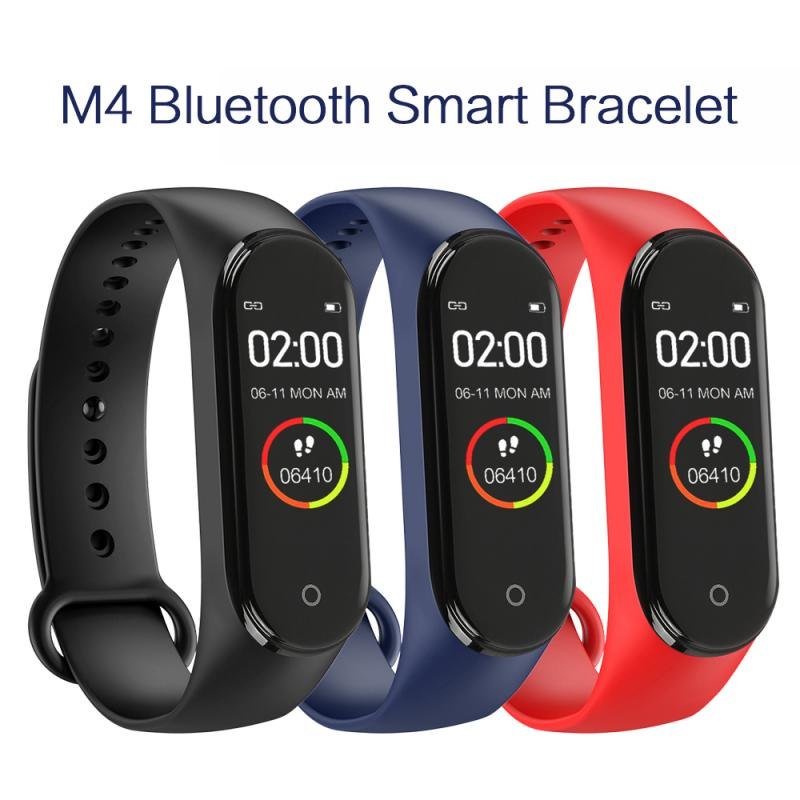 M4 Smart Bracelet Sports Pedometer Smartwatch Color Screen Fitness Walking Tracker Heart Rate Pedometer SmartBand