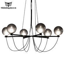 Modern Glass Sphere Luxury Design Chandelier Nordic Crystal Round Led Chandelier Lighting Hotel Living Room Lustres Hanging Lamp