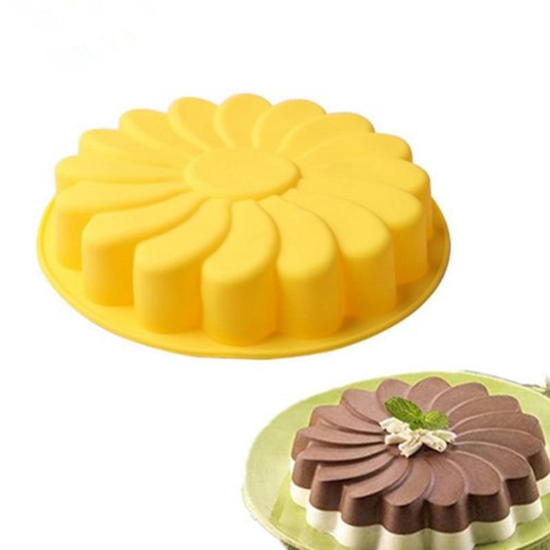 3D Fondant Silicone Sunflower Baking Tin 2