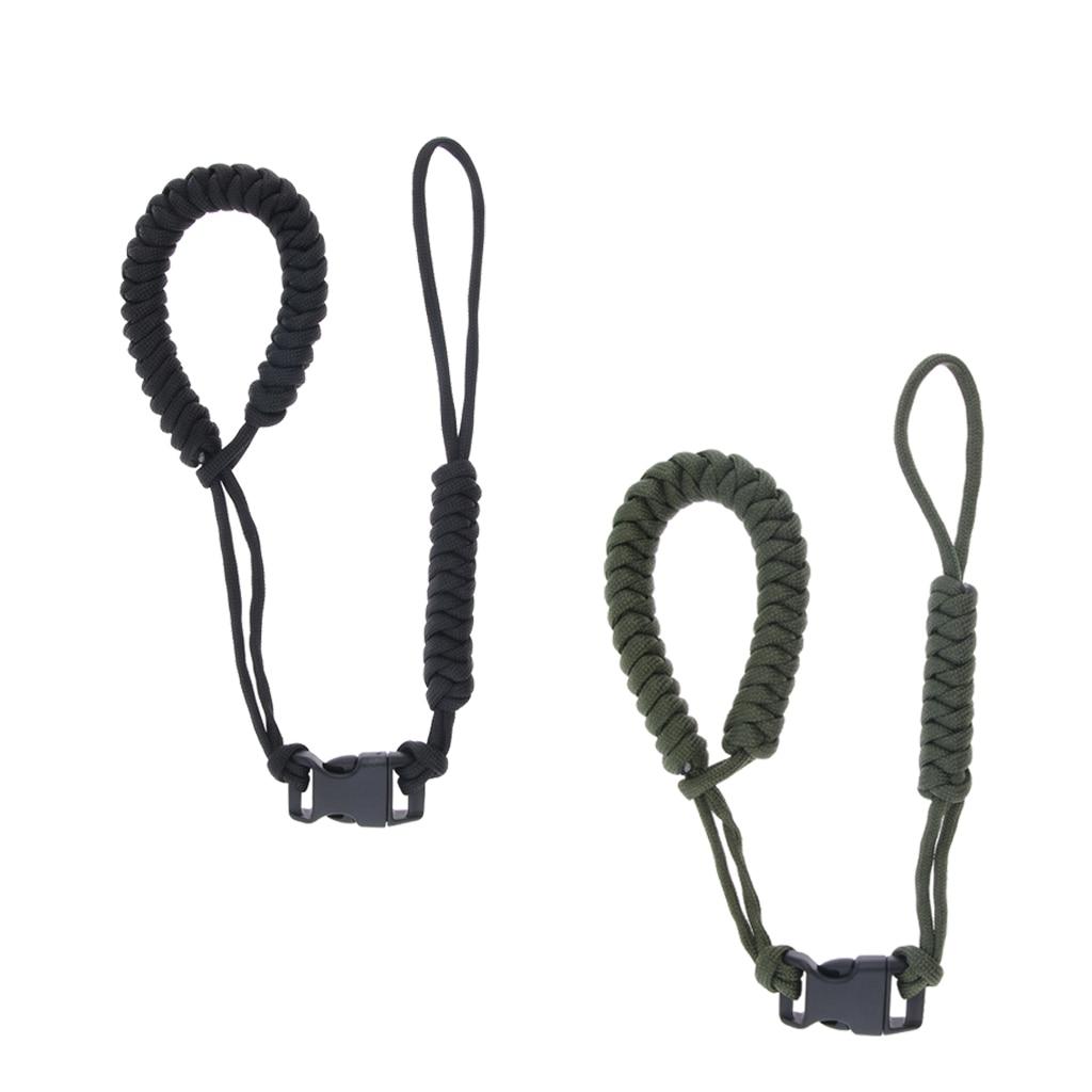 Adjustable Camera Wrist Strap Braided Paracord Weave Lanyard Camping Hiking