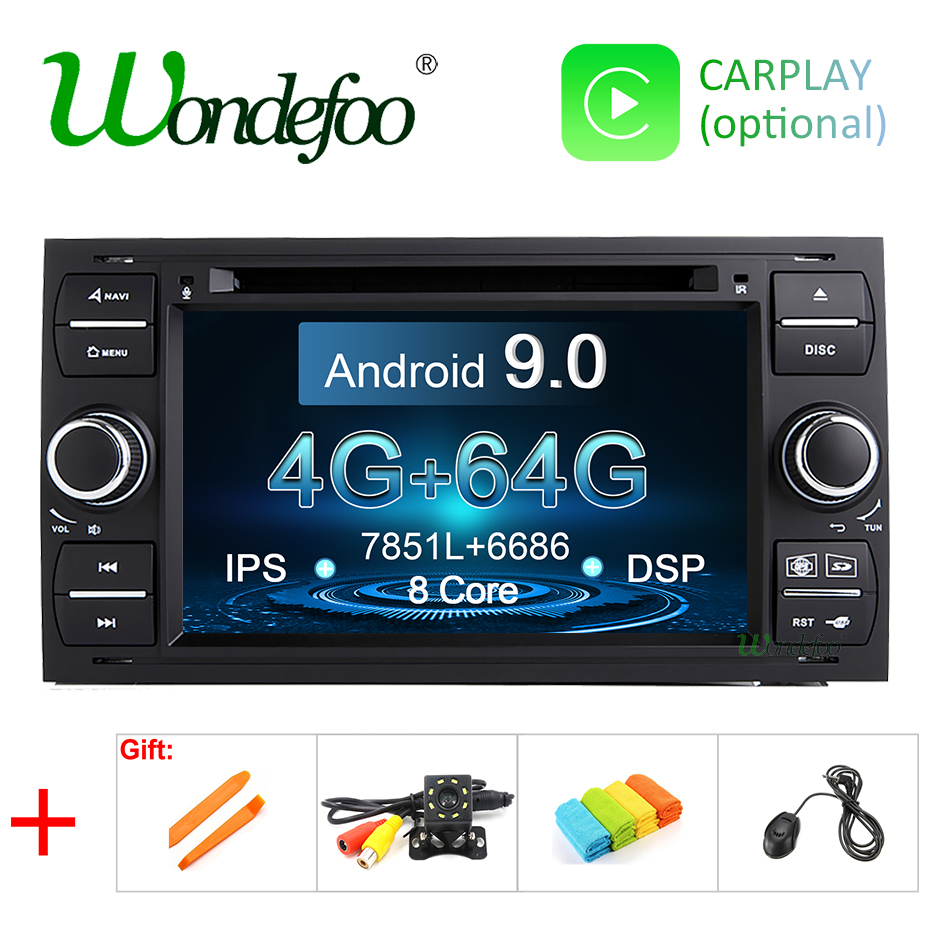 DSP IPS Android 9 0 64G 2 din Car DVD For Ford Mondeo S max Focus