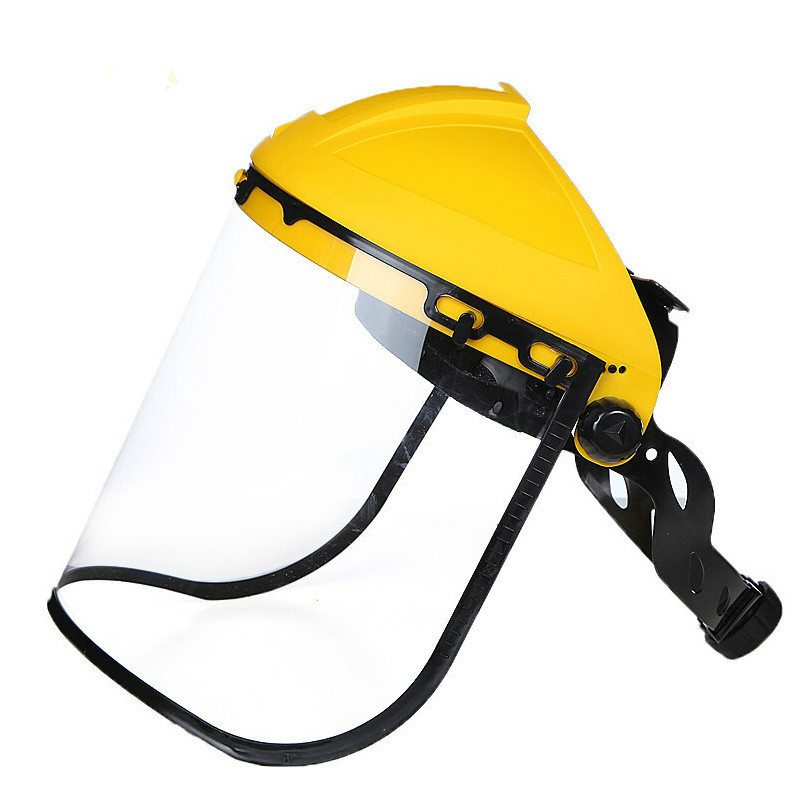 Yellow Half Helmeted Head Protective Screen Pc Chemical And Impact Protective Surface Screen Welding Mask