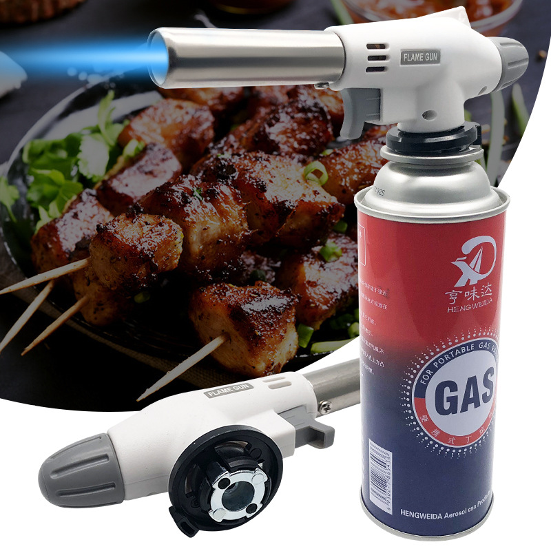 Camping Gas Torch Welding Fire Maker Lighter Butane Burner Flame Portable Baking Barbecue Igniter Camping Equipment Accessories