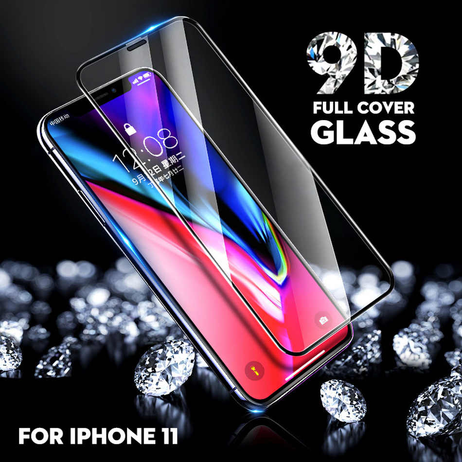 9D Screen Protector For iPhone 11 Pro Max 7 6s Plus Glass Tempered Glass For Apple iPhone XR XS 11pro Glass Full Protective Film